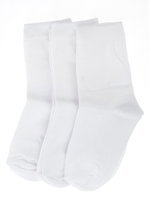 Soo be 3'lü Çorap Beyaz